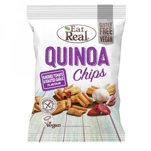 EAT REAL Quinoa Chips rajče a česnek 30 g BEZ lepku