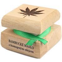 RAE Bambucké máslo s konopným olejem dřevěná krabička 30 ml