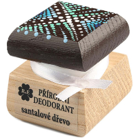 RAE Přírodní krémový deodorant santalové dřevo barevná krabička 15 ml