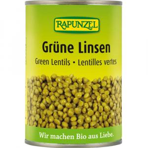 RAPUNZEL Zelená čočka sterilovaná BIO 400 g