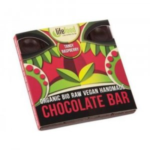 LIFEFOOD Raw čokoláda z nepraženého kakaa malinová BIO 35 g