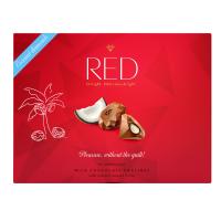 RED Bonboniera bez přidaného cukru pralinky s kokosovou náplní 132 g