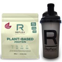REFLEX NUTRITION Plant based protein příchuť kakao a karamel 600 g + šejkr 500 ml ZDARMA