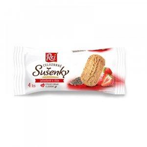 REJ celozrnné sušenky jahodové s chia 34 g