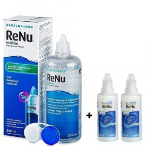 RENU Multiplus roztok na kontaktní čočky 360 ml + 2 x RENU MultiPlus 60 ml ZDARMA