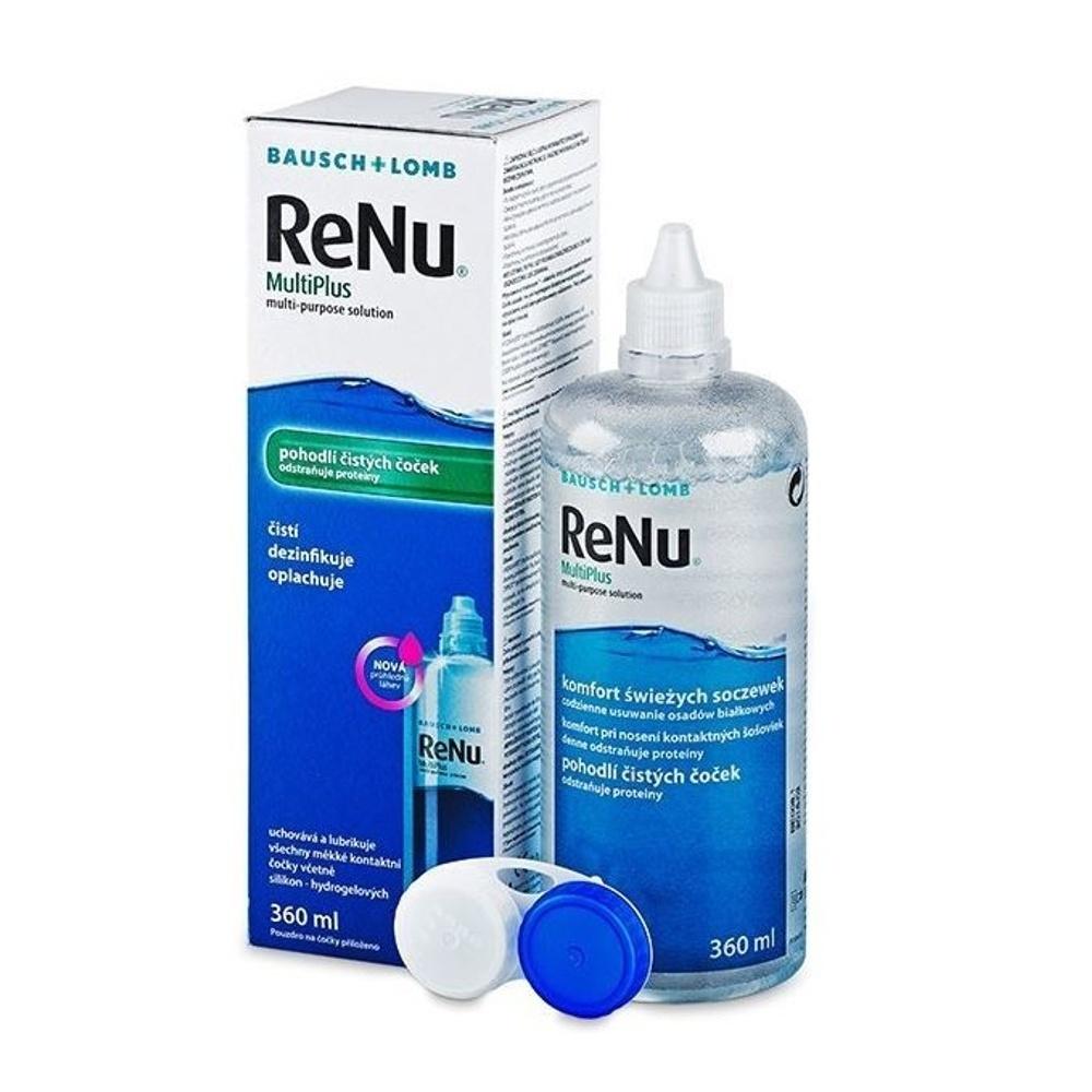RENU Multiplus roztok na kontaktní čočky 360 ml s pouzdrem