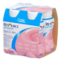 RESOURCE Protein Jahodový 4x200 ml