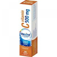 REVITAL Vitamin C 500 mg Pomeranč 20 šumivých tablet