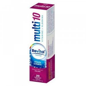REVITAL Multi10 Malina 20 šumivých tablet