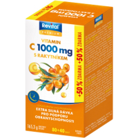 REVITAL Premium Vitamin C 1000 mg s rakytníkem 120 tablet