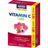REVITAL vitamin C + zinek + echinacea + šípek 45 tablet