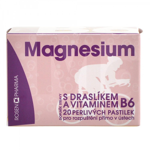 ROSEN PHARMA Magnesium 300 mg perlivé pastilky 20 tablet