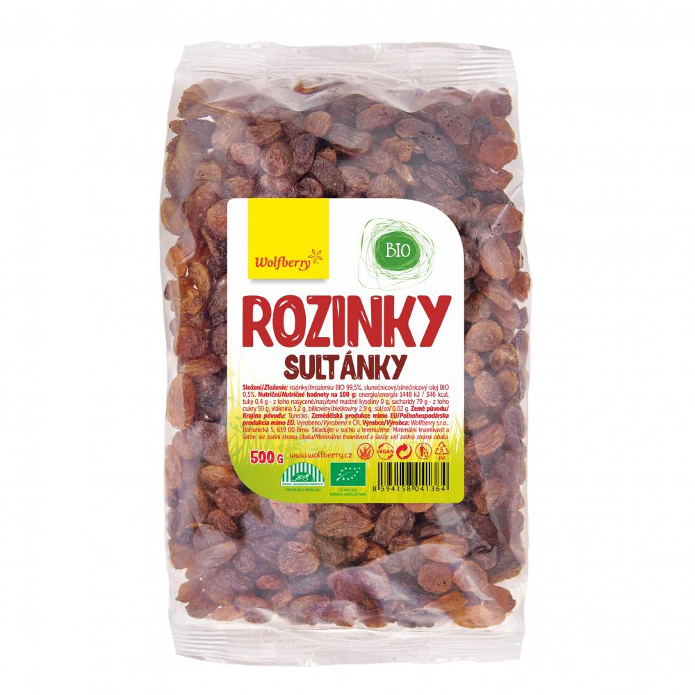 WOLFBERRY Rozinky 500 g BIO