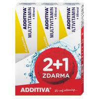ADDITIVA sada multivitamin 2+1 mandarinka šumivé tablety 3 x 20ks