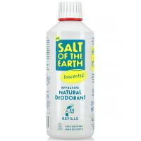 SALT OF THE EARTH Přírodní minerální deodorant Unscented bez vůně náhradní náplň 500 ml