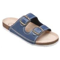 SANTÉ Dámské pantofle modré 1 pár, Velikost obuvi: 36