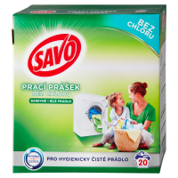 SAVO Bez chloru Universal Prací prášek 20 praních dávek