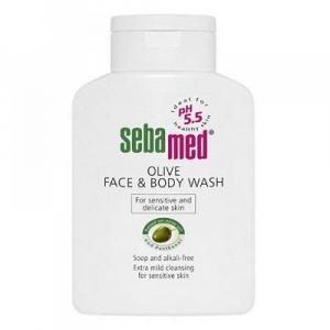 SEBAMED Mycí emulze s olivovým olejem na obličej a tělo 200 ml