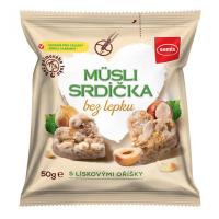 SEMIX Müsli srdíčka bez lepku oříšková 50 g