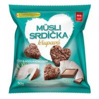 SEMIX Müsli srdíčka křupavá s čokoládou a kokosem 50 g