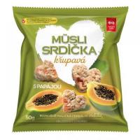 SEMIX Müsli srdíčka křupavá s papájou 50 g