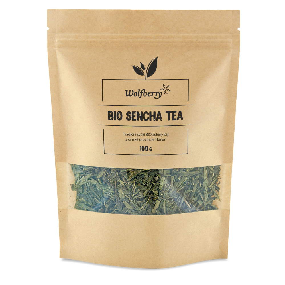WOLFBERRY Zelený čaj Sencha 100 g BIO