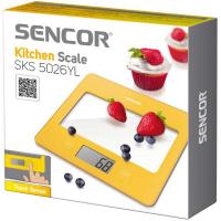 SENCOR Kuchyňská váha SKS 5026YL žlutá