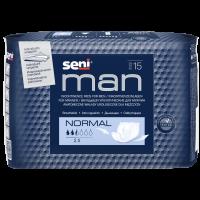 SENI Man normal inkontinenční vložky pro muže 2,5 kapky 15 kusů