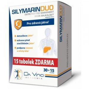 DA VINCI ACADEMIA SILYMARIN DUO 30+15 tobolek ZDARMA
