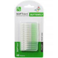 SOFTdent Butterfly dentální párátka flexi pick 48 ks