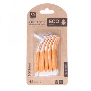 SOFTDENT ECO Mezizubní kartáček zahnutý 0,4 mm 10 ks