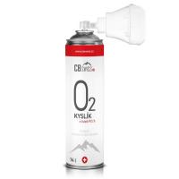 CBSWISS Stlačený inhalační kyslík O2 ve spreji s maskou 14 l