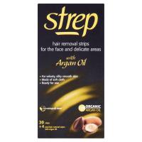 STREP Voskové pásky pro epilaci tváře a oblasti bikin s arganovým olejem 20 kusů