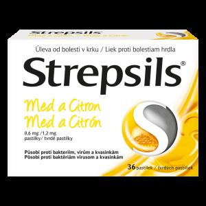 STREPSILS Med a citron 0,6 mg 36 pastilek