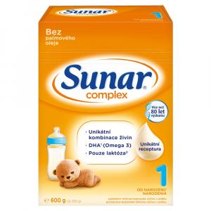 SUNAR Complex 1 Počáteční kojenecké mléko od 0 - 6 měsíců 600 g