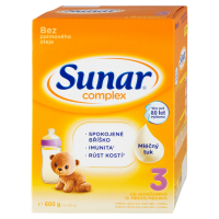 SUNAR Complex 3 Pokračovací batolecí mléko od 12 měsíce 600 g
