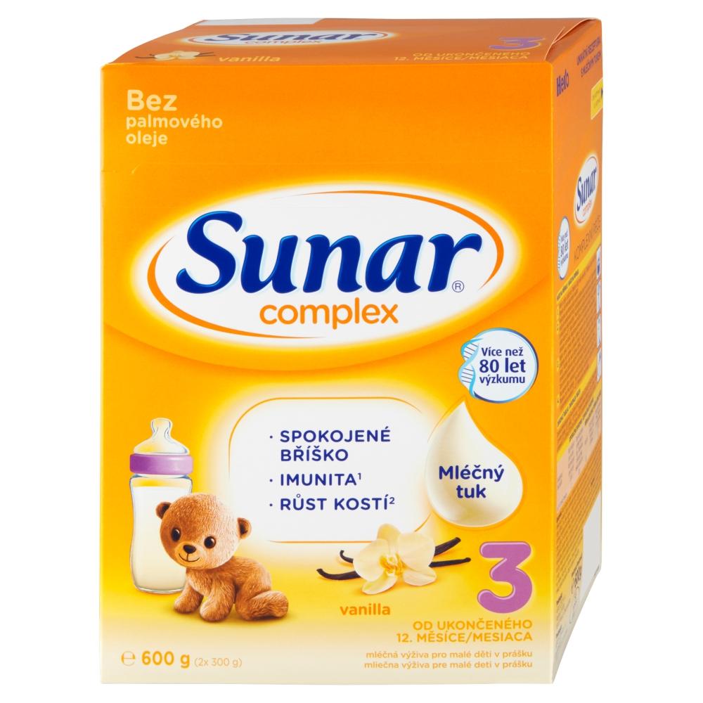 SUNAR Complex 3 Vanilka Pokračovací batolecí mléko od 12 měsíce 600 g