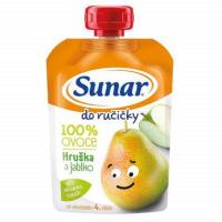 SUNAR Do ručičky 100% ovoce Jablko-Hruška od 4.měsíce 100 g