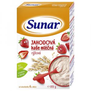 SUNAR Jahodová kašička mléčná rýžová 225 g
