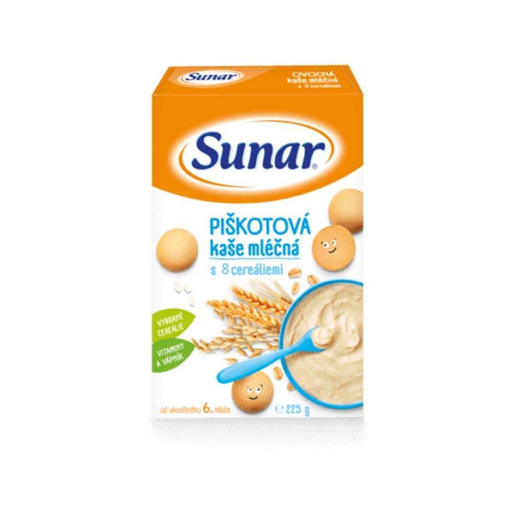 SUNAR Kašička piškotová mléčná 225 g