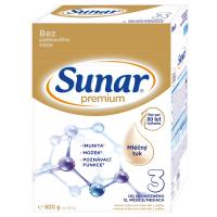 SUNAR Premium 3 Pokračovací batolecí mléko od 12. měsíců 600 g