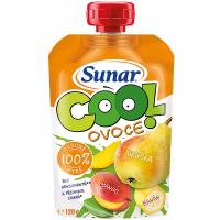 SUNAR Cool Ovocná kapsička Hruška Mango Banán od 12.měsíce 120 g