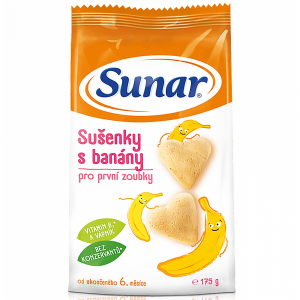 SUNAR Dětské sušenky s banánem 175 g