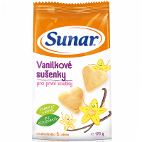 SUNAR Dětské sušenky vanilkové 175 g