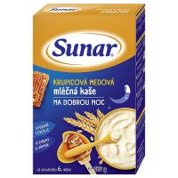 SUNAR Kaše krupicová mléčná na dobrou noc medová 225 g