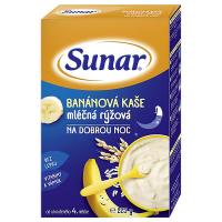 SUNAR Kašička mléčná rýžová na dobrou noc Banánová 225 g