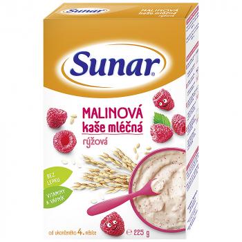SUNAR Kašička rýžovo mléčná Malinová 225 g