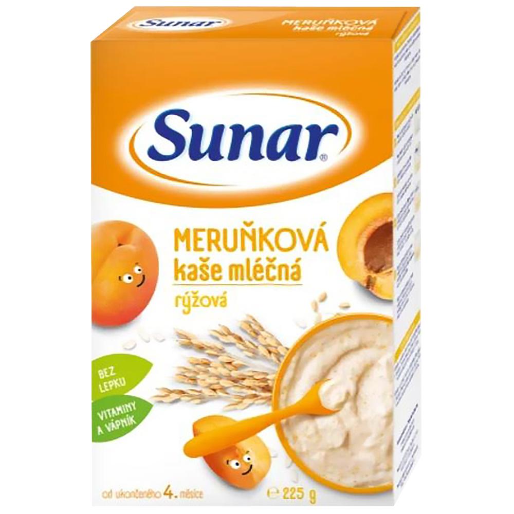 SUNAR Kašička rýžovo mléčná Meruňková 225 g