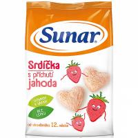 SUNAR Pro první zoubky Srdíčka s jahodovou příchutí 50 g