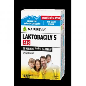 SWISS NATUREVIA Laktobacily 5 ATB 10 kapslí